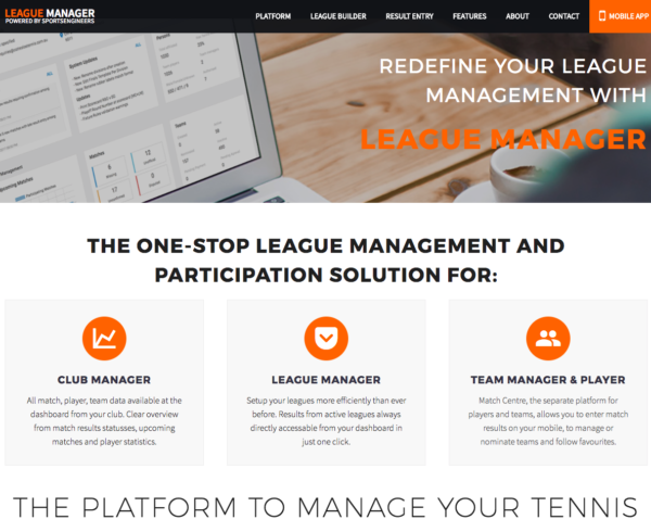 League Manager Software